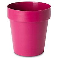 Nurgul Pink Plastic Round Plant pot (Dia)30cm