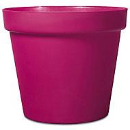 Nurgul Pink Plastic Round Plant pot (Dia)70cm