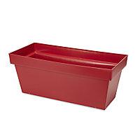 Nurgul Red Plastic Rectangular Trough 57.8cm
