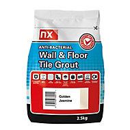 NX Anti-bacterial Fine textured Golden jasmine Tile Grout, 2.5kg