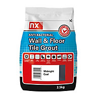 NX Anti-bacterial Fine textured Midnight coal Tile Grout, 2.5kg