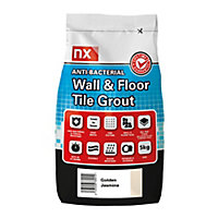 NX Anti-bacterial Ready mixed Golden jasmine Floor & wall Tile Grout, 5kg