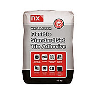 NX Flexible Standard set White Tile Adhesive, 10kg