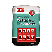 NX Rapid Ready mixed White Floor & wall Tile Adhesive, 10kg