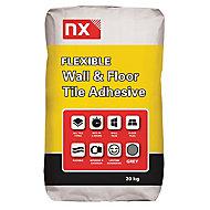 NX Rapid Set Flexible Ready mixed Grey Tile Adhesive, 20kg