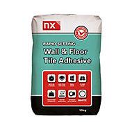NX Rapid set White Tile Adhesive, 10kg