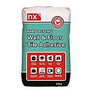 NX Rapid set White Tile Adhesive, 20kg