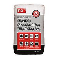 NX Standard set Grey Floor & wall Tile Adhesive, 20kg