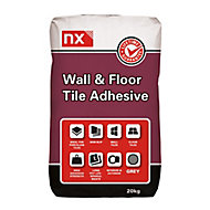 NX Standard set Grey Tile Adhesive, 20kg