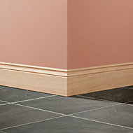 Oak Ogee Skirting board (L)2.4m (W)120mm (T)18mm, Pack of 3