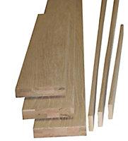 Oak veneer Internal Door lining set, (H)2000mm (W)150mm
