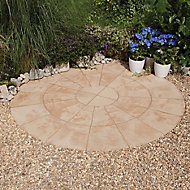 Old riven Autumn cotswold Paving set 4.52m², Pack of 34