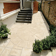 Old town Weathered limestone Paving set 6.12m², Pack of 36