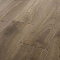 Oldbury Grey Oak effect High-density fibreboard (HDF) Laminate Flooring Sample