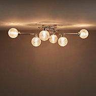 Onnes Chrome effect Mains-powered 6 lamp Spotlight