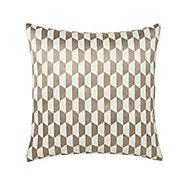 Onyx Geometric Grey & white Cushion (L)45cm x (W)45cm