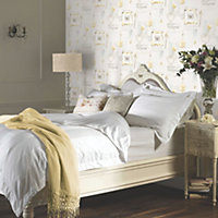 Opera Lavender days Yellow Romantic collage Mica effect Smooth Wallpaper