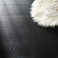 Oppland Black Satin Oak Real wood top layer Flooring Sample