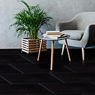 Opulence Black Gloss Speckled Stone effect Porcelain Wall & floor Tile, Pack of 5, (L)600mm (W)300mm
