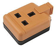 Orange 13A 1 Gang Unswitched Trailing socket