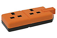 Orange 13A 2 Gang Unswitched Trailing socket