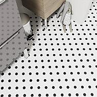 Orchidia Black & white Ceramic Mosaic tile sheet, (L)300mm (W)260mm