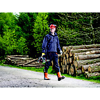 "Oregon Yukon Black & orange Chainsaw trousers (W)38"" (L)31"""