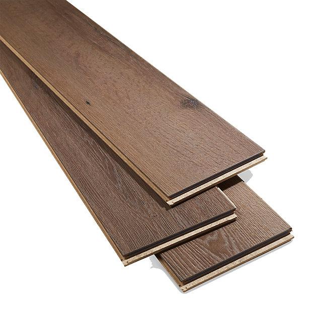Padiham Brown Gloss Dark Oak Effect, Laminate Flooring Samples