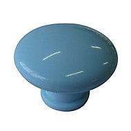 Pale blue Plastic Round Cabinet Knob (Dia)40mm
