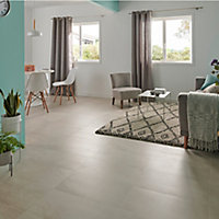Palemon Ivory Matt Stone effect Porcelain Floor tile, Pack of 6, (L)610mm (W)305mm