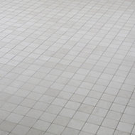 Palemon Ivory Stone effect Mosaic Porcelain Mosaic tile, (L)305mm (W)300mm