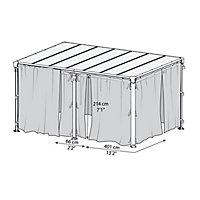 Palram 4/5K Grey Polyester (PES) Gazebo net (L)2170mm (W)4650mm