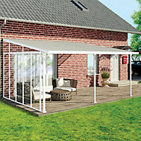 Palram 4 Series White Patio cover side wall, (L)3.19m (H)3.05m