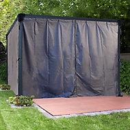 Palram 4K Series Grey Polyester (PES) Gazebo curtain, Pack of 6 (L)2170mm (W)4010mm