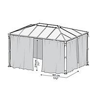 Palram 4K Series Grey Polyester (PES) Gazebo net (L)2170mm (W)4360mm