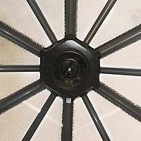 Palram Garda Grey Hexagonal Gazebo, (W)5.17m (D)5.95m