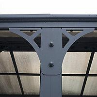 Palram Martinique Grey Rectangular Gazebo, (W)4.3m (D)2.96m