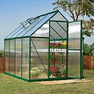 Palram Mythos 6X8 Polycarbonate Apex Greenhouse