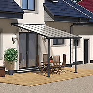 Palram Olympia Grey Non-retractable Awning, (L)3.07m (H)3m (W)3.05m