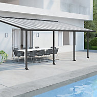 Palram Olympia Grey Non-retractable Awning, (L)7.39m (H)3.05m (W)2.95m