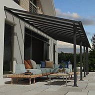 Palram Olympia Grey Non-retractable Awning, (L)8.6m (H)3.05m (W)2.95m