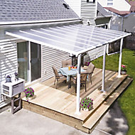 Palram Olympia White Non-retractable Awning, (L)3.07m (H)3m (W)3.05m
