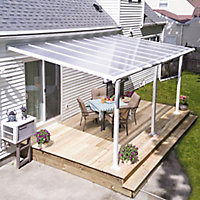Palram Olympia White Non-retractable Awning, (L)4.25m (H)3m (W)3.05m