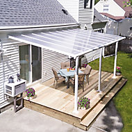 Palram Olympia White Non-retractable Awning, (L)5.46m (H)3m (W)3.05m