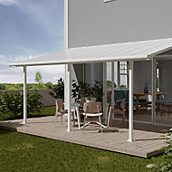 Palram Olympia White Non-retractable Awning, (L)6.19m (H)3m (W)3.05m
