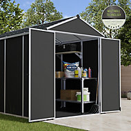 Palram Rubicon 6x10 Apex Dark grey Plastic Shed