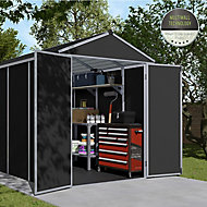 Palram Rubicon 6x12 Apex Dark grey Plastic Shed