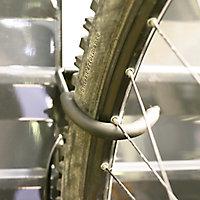 Palram Silver Wall-mounted Bike hanger, (H)40mm (L)260mm
