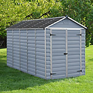 Palram Skylight 6x12 Apex Dark grey Plastic Shed