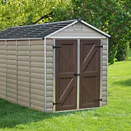 Palram Skylight 6x12 Apex Tan Plastic Shed with floor